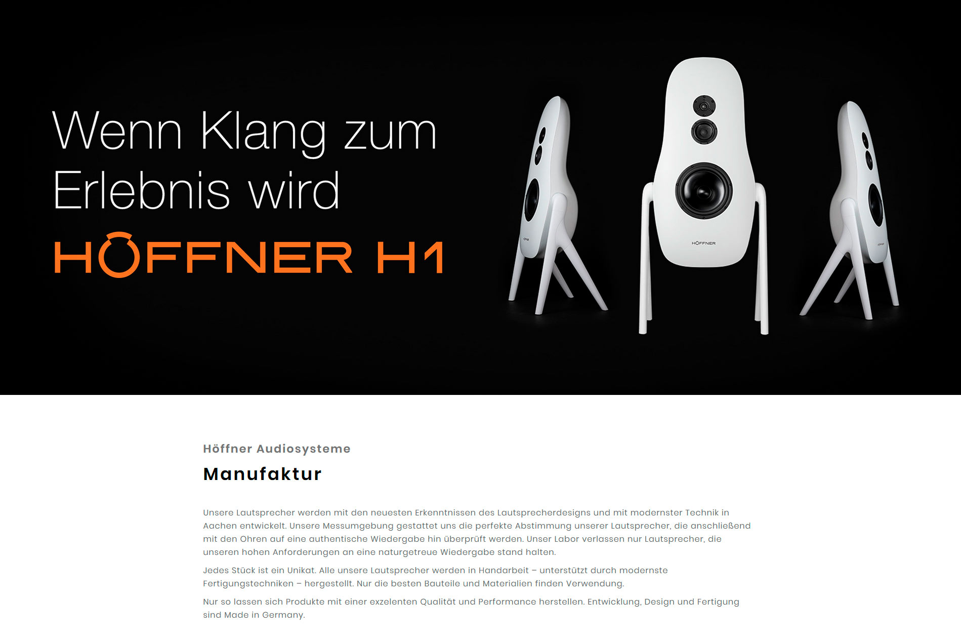 h ffner audiosysteme mit neuer seite online h ffner audiosysteme manufaktur. Black Bedroom Furniture Sets. Home Design Ideas